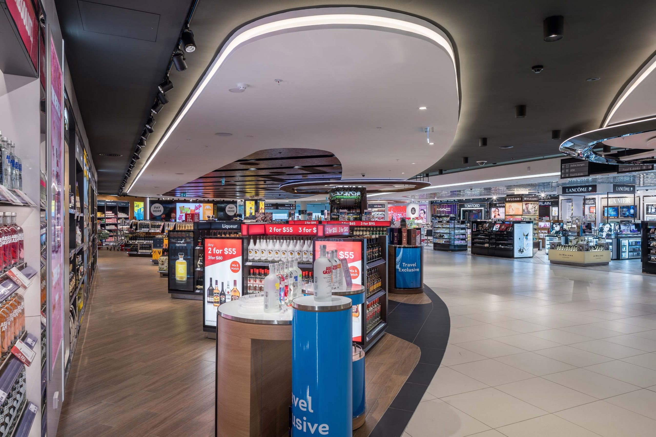 Retail stands at Perth International Airport Duty Free